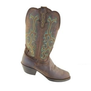Justin Women's Brown Style L2552 Square Toe Wester